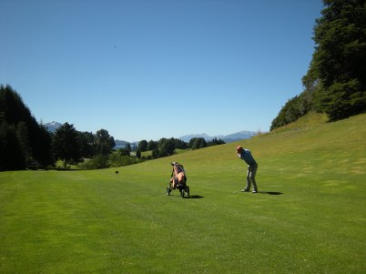 Club Social Llao Llao across the Road from the Golf Course Hole3